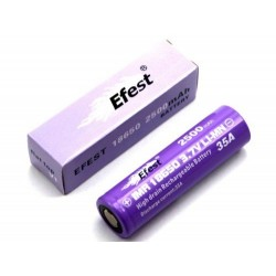 Accu 18650 Efest Imr 37V Rechargeable 2500Mah