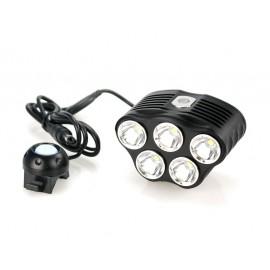 Lampe pour vélo TR-D010 5x CREE XM-L T6 2800 lumens 5 modes