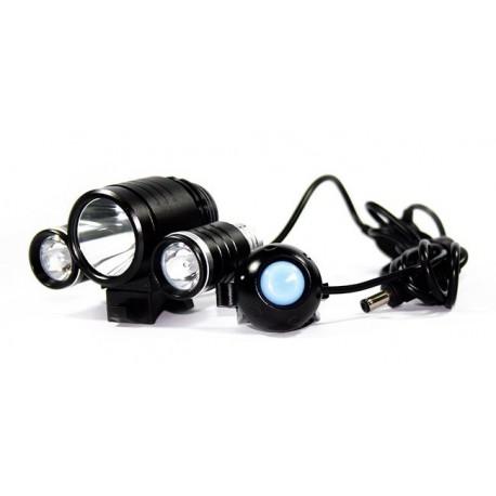 Lampe pour vélo TR-D003 1x CREE XM-L T6 et 2x XPE-R2 1800 lumens 3 modes