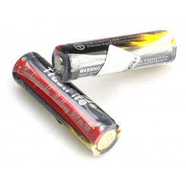 2x batteries rechargeables Lithium TF14500 900 mAH 3.7 V avec protection